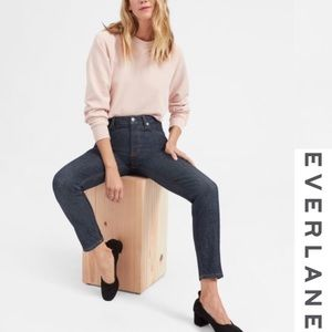 Everlane Dark Wash High Rise Skinny Jeans